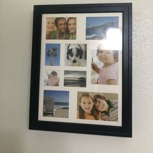 Framed picture collage jewelry wall cabinet